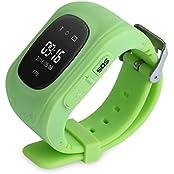 LightU Smart Kid Safe GPS Watch Wristwatch SOS Call Location Finder Locator Tracker Green