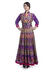 Nitin Gera Designs - Multi Color Aari Work Kalidar