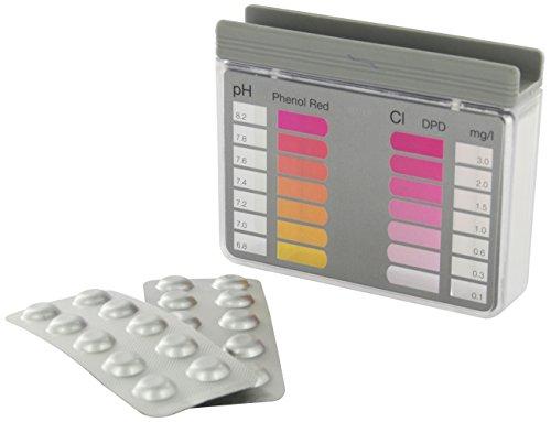 Steinbach Poolchemie Testkit für pH-Wert und freies Chlor, 10 Tabletten