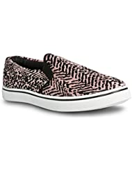 Twisted Womens CORE Classic Slip-on Canvas Slim Lo-Top Sneakers