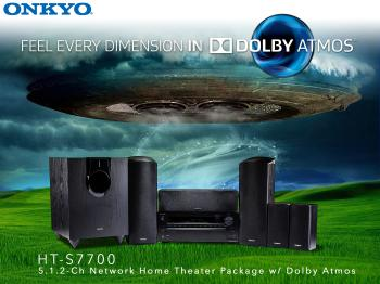 Home theater with Dolby Atmos