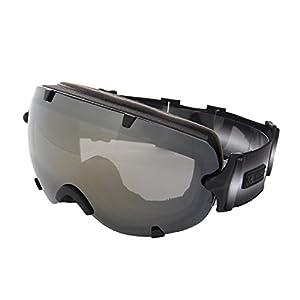 VAXPOT(バックスポット) ゴーグル 前面レンズ ダブルレンズ くもり止め加工 UVカット メンズ・レディース兼用 VA-3613 BLK-GLD(ユニセックス) フリーサイズ