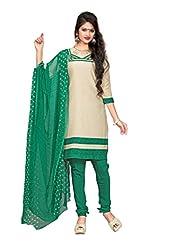 Kanheyas Butter Crepe Unstitched Dress Material With Chiffon Dupatta - B01414K41A