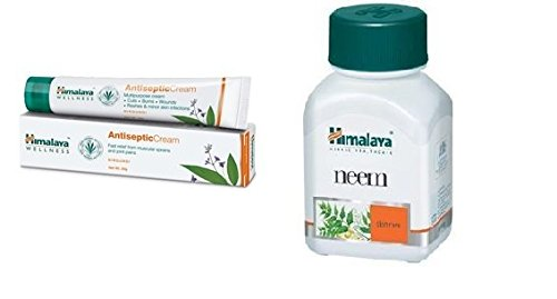 Himalaya General Wellness Combo (Antisepctic Cream & Neem Capsules) Pack Of 4 Each