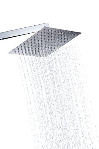 Eyekepper 8'' Stainless Steel Shower Head Rain Style Showerhead Elegantly Designed,8-inch Diameter,...
