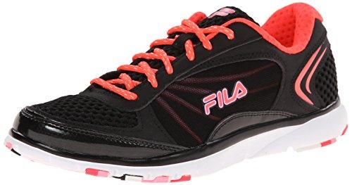 Fila Women's Memory Panache Training Shoe, Black/Diva Pink/C