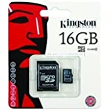 Kingston Technology Digital 16GB Micro SDHC Class 10 Memory Card With Adapter.
