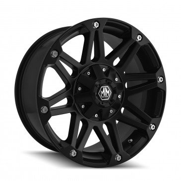 Mayhem Riot 17 Black Wheel / Rim 5×4.5 & 5×5 with a 10mm Offset and a 78.3 Hub Bore. Partnumber 8010-7856MB10