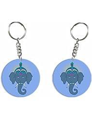 Ganesh Chaturthi Special 2 (Gry Ganesha) Key Chain By Iberrys