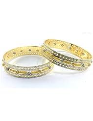 Perk Art Jewels Silver Gold Metal Beads Stone Bracelet For Women - B01JPEQYMO