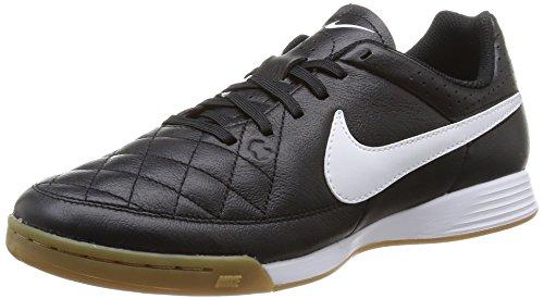 Nike Tiempo Genio Leather IC - Zapatillas de deporte para hombre, color negro / blanco, talla 48.5