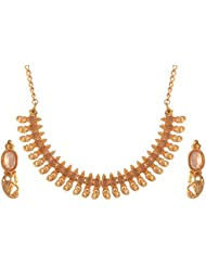Ganapathy Gems Gold Plated Choker Necklace Set For Women (10968_GPJ) 10968_GPJ