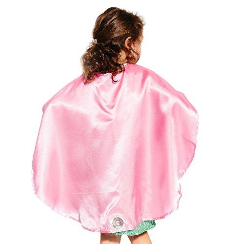 Pink Polyester Satin Superhero Cape - Kids