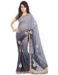 Bano Tradelink Women's Chiffon Saree(7020)