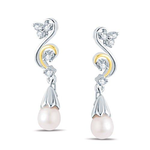 Jashn The Excelsior Drop Earring In Sterling Silver With Swarovski Diamond # JNESC055