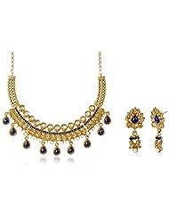 Sia Art Jewellery Gold Plated Jewellery Set For Women (Golden) (AZ2984)