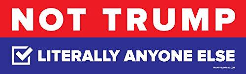 Trump and Clinton Halloween Costumes - Choose Edgy or Funny - Not Donald Trump - 3x10 Bumper Sticker (Bi-Partisan Colors)