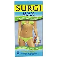 Surgi-wax Honey Wax Strips For Bikini, Body & Legs, 14 Double Sided Strips (Pack Of 3)