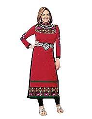 Stylish Dress With Cotton Top And Cotton Bottom And Naznin Dupatta - B0191QR39O