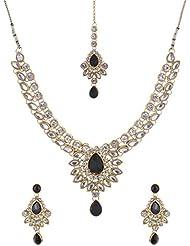 Mehek Design Black Metal Strand Jewellery Set For Women (VD146)