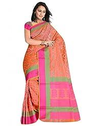 Sehgall Saree Women Kora Silk Saree (A1467 _Pink _Free Size)
