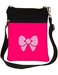Snoogg Cute Bow Cross Body Tote Bag / Shoulder Sling Carry Bag