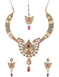Mehek Design Gold Metal Strand Jewellery Set For Women (VD141)