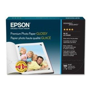 "Epson Premium Photo Paper - 4"" x 6"" - 252g/m - High Gloss -"