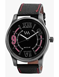 Watch Me Black Genuine Leather Analogue Watch For Men WMAL-086-B - B01L01P54S