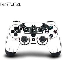 Elton PS4 Controller Designer 3M Skin For Sony PlayStation 4 , PS4 Slim , Ps4 Pro DualShock Remote Wireless Controller (set Of Two Controllers Skin) - Batman Arkham Knight Logo
