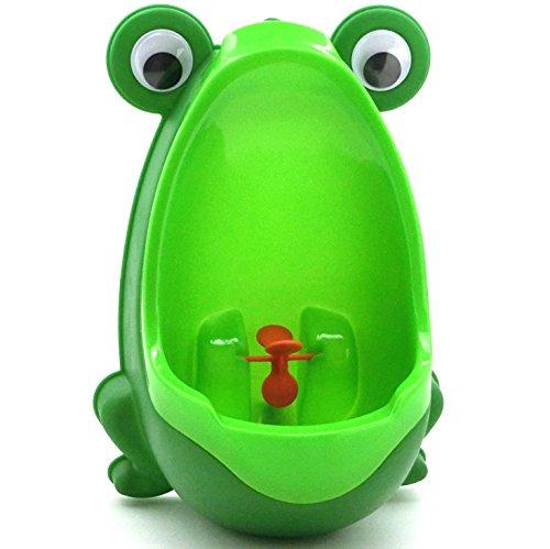 【Lucky Style】 男の子 小便器 おまる トイレトレーニング 取外し可能 可愛い カエル型 グリーン