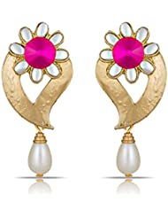 The Luxor Traditional Pink Earrings For Women