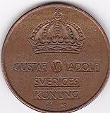 1959 Sweden 5 Ore Coin - King Gustav Adolf VI
