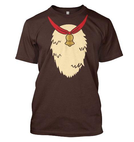Adult's Reindeer Costume T-Shirt - Dark Chocolate Large (42/44