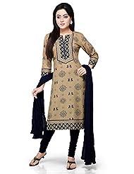 Vastra Vinod Dark Beige Cotton Readymade Kurti With Legging