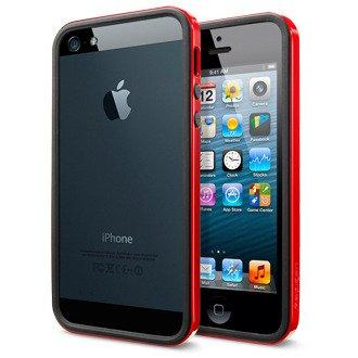 SPIGEN+SGP+iPhone5+ケース+ネオ・ハイブリッド+EX+スリム+ビビッドシリーズ+[ダンテ・レッド]+【SGP10026】