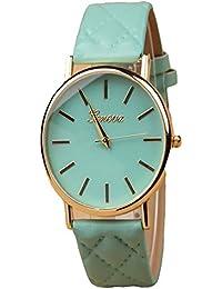 ISweven Simple Retro HOT Newest Pu Leather GENEVA / Geneva Female Watches Analogue Green Unisex Wrist Watch W1005f