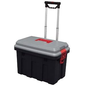 Amazon.com - Storage Trunk w/ Wheels & Extendable Handle