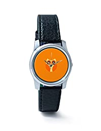 PosterGuy Orange Cute Little Owl Bird Illustration Cartoon Analog Women's Wrist Watch-2238324536-RS2-S-BLK