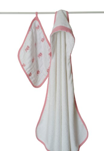 aden + anais Bathing Beauty Terry Hooded Towel and Muslin Wash Cloth Set Image