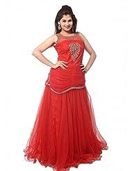 Fashion Hub Designer Women's Partywear Anarkali Salwar Suit Gown - B019WL0TXA