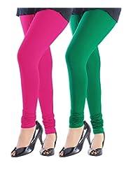 Style Acquainted People Women's Cotton Leggings (Pack Of 2) - B015J8B1T6