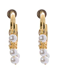 Out Of The Box Party Wear Gold Plated Earring Set For Women (OOTB009)