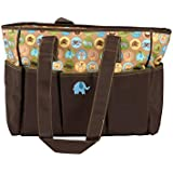 Baby Grow Colorland Diaper Tote Bag Animal Print (Brown/ Khaki)