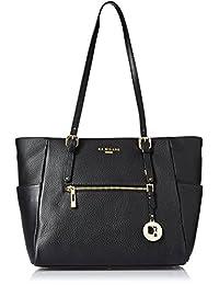 Da Milano Women's Handbag (Black) (Lb-2164Blackwax)