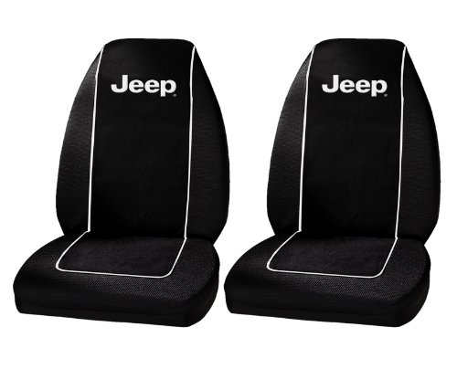 Plasticolor 6563R01 Jeep Logo Front Bucket Seat Covers – One Pair