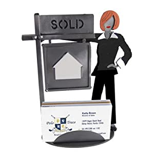 Amazon.com : Real Estate Female Business Card Holder