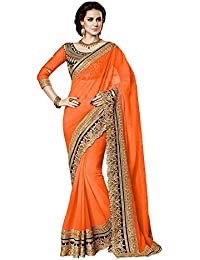 Winza Women Party Wear Design Collection - Georgette Saree With Heavy Embroidered Work And Unstitch Blouse