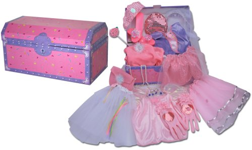 Dress Up For Girls Princess Trunk 26 Pieces(Jewlery to ...