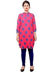 A&K Women's Apple Top Tunic Kurti_(1090P)